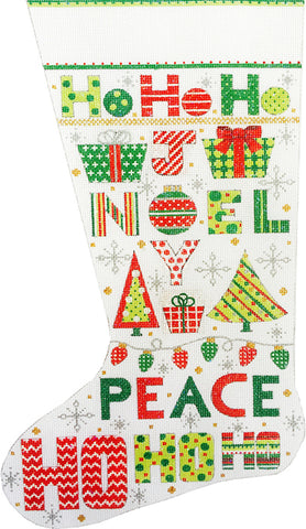 Christmas Word Stocking