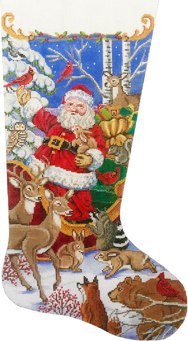 Santa's Animal Gathering Stocking