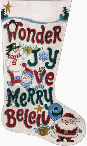 Holiday Words Stocking