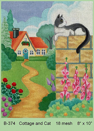 Cottage and Cat