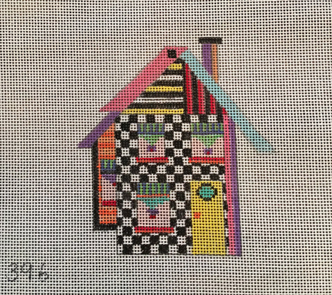 Penny Macleod:PM396 House Ornament 3x4 18M