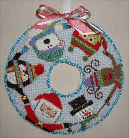 Santa and Friends Wreath