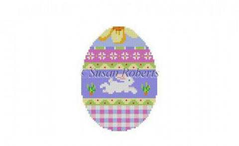 Bunny Over Plaid, egg  452