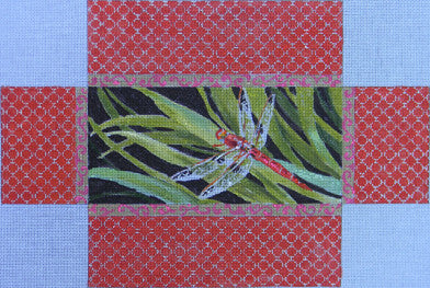 Dragonfly Brick Cover - BeStitched Needlepoint