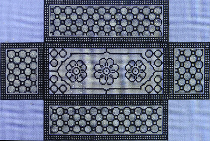 Black/White Brick Cover - BeStitched Needlepoint