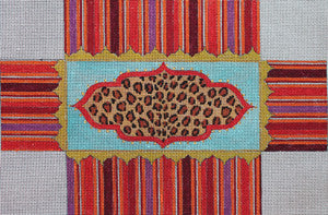 Art Deco Leopard Brick Cover - BeStitched Needlepoint