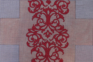 Red Pattern Brick Cover - BeStitched Needlepoint