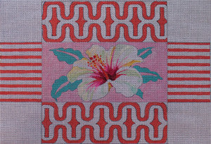 Hibiscus Brick Cover - BeStitched Needlepoint