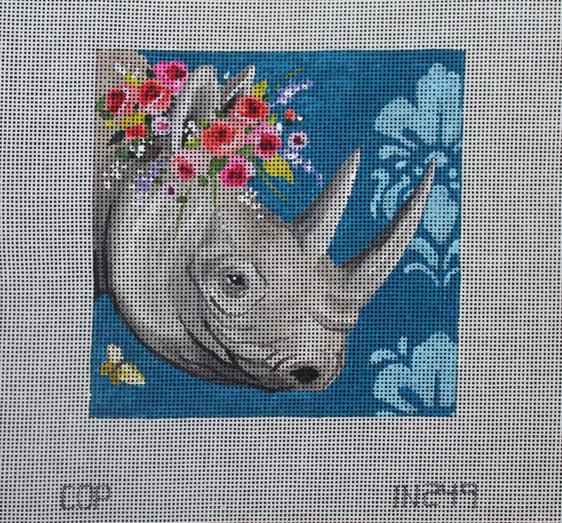 Rhino With Floral Crown