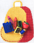 School Backpack with stitch guide
