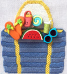 Beach Basket with stitch guide