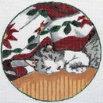 Sleeping Kitten ornament
