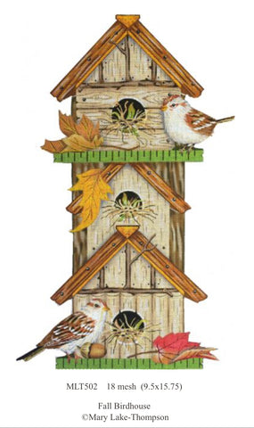 Fall Birdhouse. MLT502