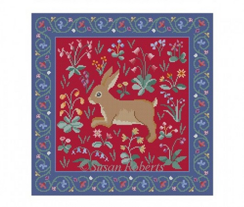 Cluny Rabbit, red 1026r