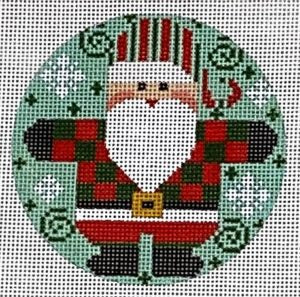 Santa Round - Checkered Coat Red & Green
