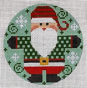 Santa Round - Checkered Coat Greens