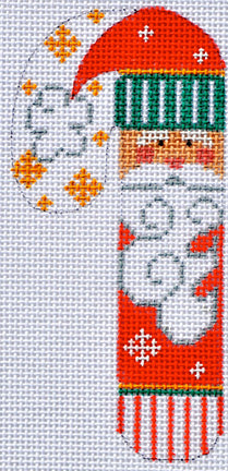 FA-04 - Santa with Striped Hat Candy Cane