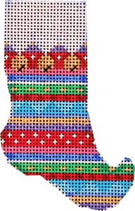 Jingle Bells/Multi Stripe Elf Sock
