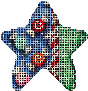Candy Cane/Snowflakes Mini Star