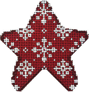 Red Snowflake Mini Star