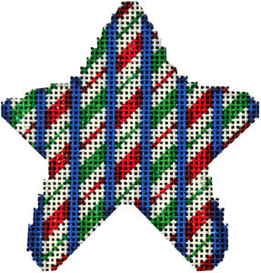 CT-2035 - Candy Cane Repeat Mini Star