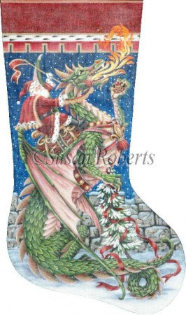Santa & Dragon, stocking   TTAXS407
