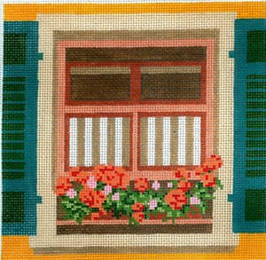 Window - Geraniums T-5d