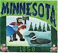 Minnesota Postcard - BeStitched Needlepoint