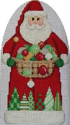 Ornaments/Trees Santa 5x9