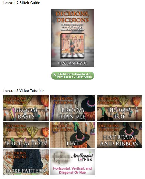 """Decisions, Decisions"" Digital Class Resources - Stitch Guide + Tutorial Vids"