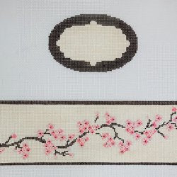 Cherry Blossoms Oval Hinged Box w/Hardware