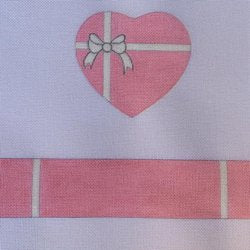 Baby Girl Heart Hinged Box with Hardware