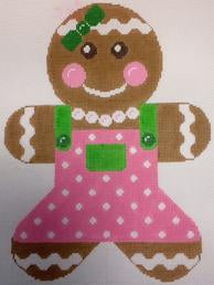 Gingerbread Girl Pink & Lime