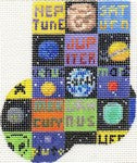 Planets Patchwork Mini-Sock ab229