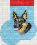 German Shepherd Mini Sock ab351