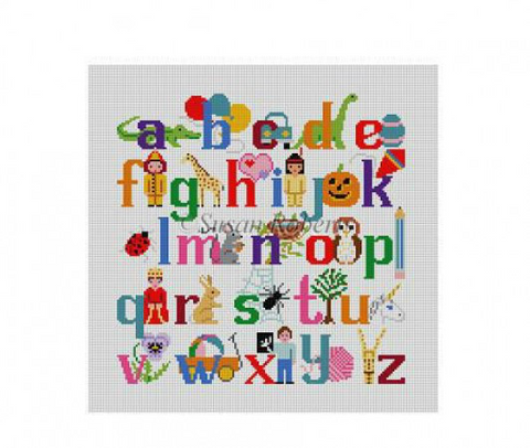 Alphabet w/Characters, child's seat   1307