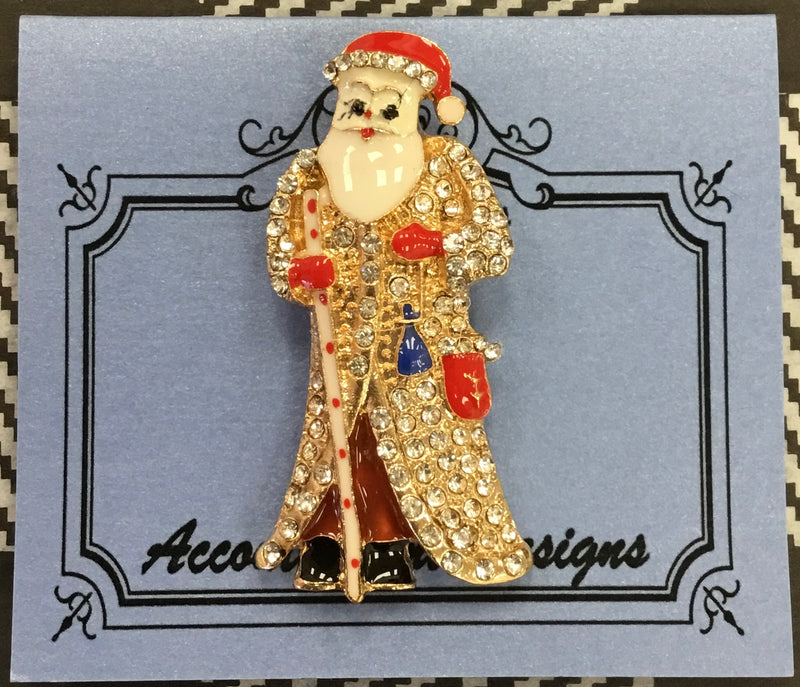 #77 Saint Nick Jeweled w Cane