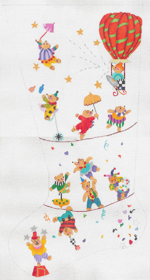 Teddy's Holiday Circus Stocking 13M