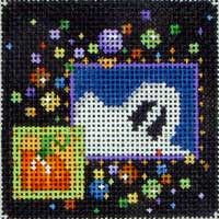Ghost Halloween Confetti Square