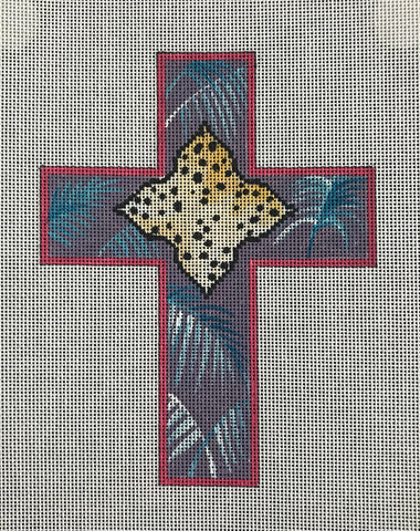 Leopard and Palms Cross