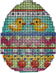 Two Ducks Chevron Stripes Mini Egg