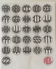 Footprint Blue Monogram Round