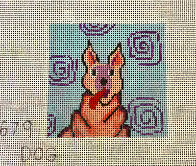 Penny Macleod:PM679 Coaster Dog Pink