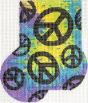 Tie-Dye/Peace Sign Mini Sock ab323
