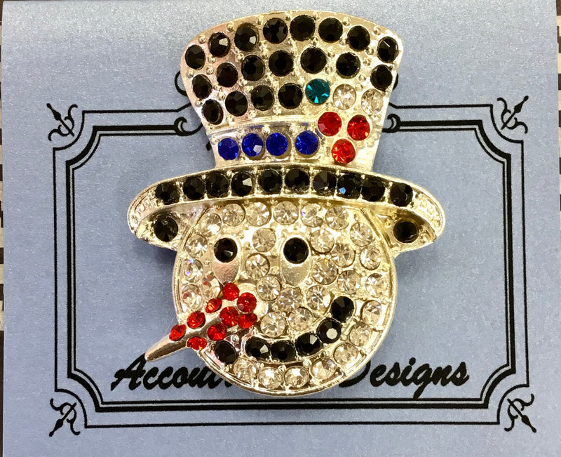 #59 Snowman in Top Hat Jeweled