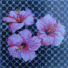 Pink Hawaiian Floral - BeStitched Needlepoint