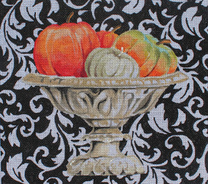 Elegant Pumpkins in Urn - BeStitched Needlepoint