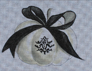 Elegant Pumpkin with Ribbon - BeStitched Needlepoint