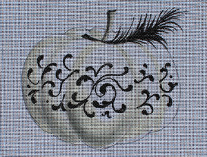 Elegant Pumpkin with Feather - BeStitched Needlepoint