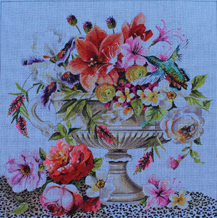 Flowers in Urn - BeStitched Needlepoint